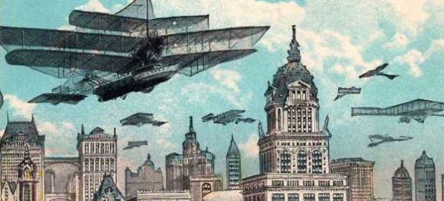 1925 Carte postale du futur New York