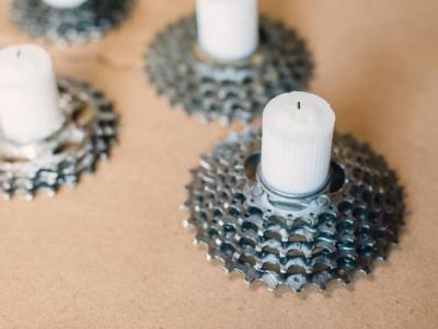 Fabriquer des supports pour bougie avec un vieux vélo